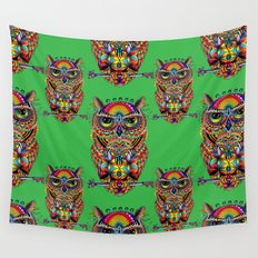 Owl of Sacred Knowledge Wall Tapestry