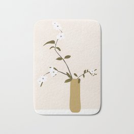 Flowers in the Vase Bath Mat