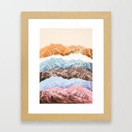 mountain mashup (variant 2) Framed Art Print