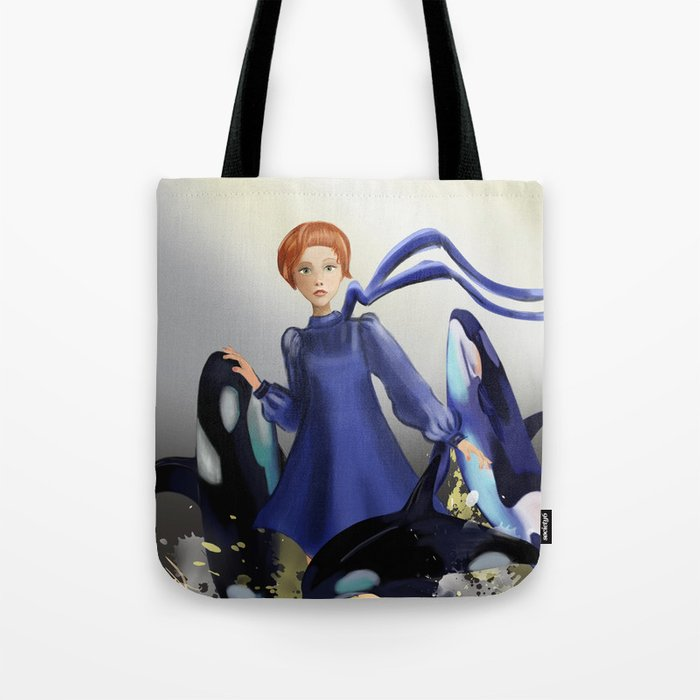 Blue Whales Tote Bag
