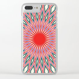 Circle in Repeat. Clear iPhone Case