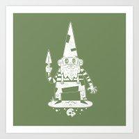 gnome Art Prints featuring Gnome by Matt Sinor