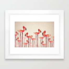 Transmogrified Flamingo Colony Framed Art Print