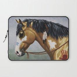 Native American Buckskin Pinto War Horse Laptop Sleeve