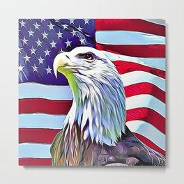 Proud American Eagle Metal Print