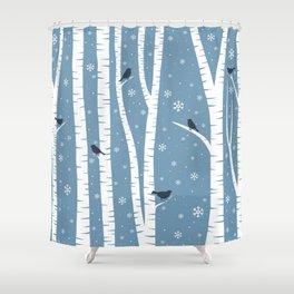 Birch Forest - Winter Idyll Shower Curtain