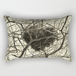 Heart-Shaped Nest Rectangular Pillow