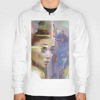 japanese Hoodies featuring Izanami goddess Japanese by Joe Ganech