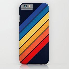 Medussa - Classic Colorful 70s Vintage Style Retro Summer Stripes iPhone Case
