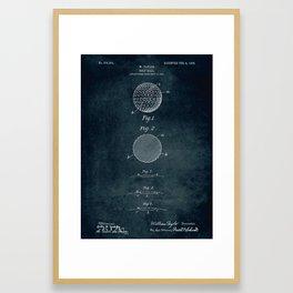 1906 - Golf ball patent art Framed Art Print