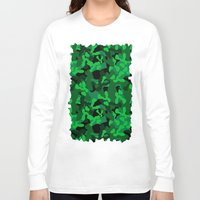 camouflage Long Sleeve T-shirts featuring Camouflage (Green) by 10813 Apparel