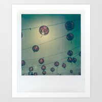 lanterns Art Prints featuring Lanterns by Leandro