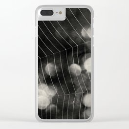 Walking through spiderwebs Clear iPhone Case