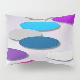 Cool Colors - Large Ovals - Digial Design - Pretty Colors Pillow Sham