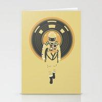 dj Stationery Cards featuring DJ HAL 9000 by Robert Farkas