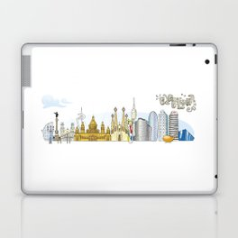 Barcelona with significant buildings Laptop & iPad Skin