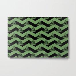 illuminati chevron green Metal Print