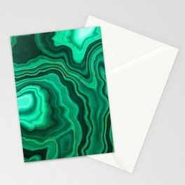 Malachite Texture 10 Stationery Cards