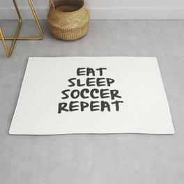 Eat, Sleep, Soccer, Repeat Rug