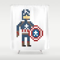 steve rogers Shower Curtains featuring Steve Rogers by Bryan
