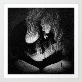 Drawlloween 2014: Skull Art Print