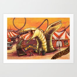 Ride the Wormhole Art Print