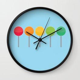 Rainbow lollypops Wall Clock