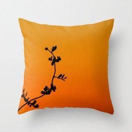 Simple Silhouette Throw Pillow