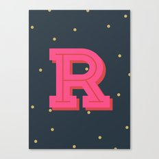 R is for Rad Canvas Print