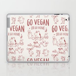 GO VEGAN OR GO HOME Laptop & iPad Skin