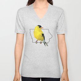Iowa – American Goldfinch Unisex V-Neck