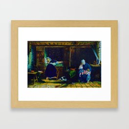 The Last Breath (after Jozef Israels) Framed Art Print