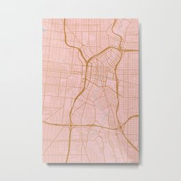 San Antonio map, Texas Metal Print