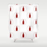 true blood Shower Curtains featuring Badge inspired by True Blood by Purshue feat Sci Fi Dude