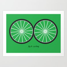 Fig.8: cycling Art Print