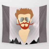 the dude Wall Tapestries featuring Dude by DM Davis