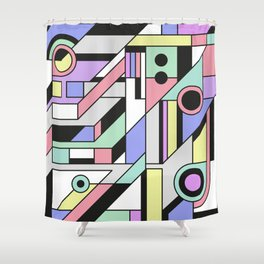 De Stijl Abstract Geometric Artwork 2 Shower Curtain