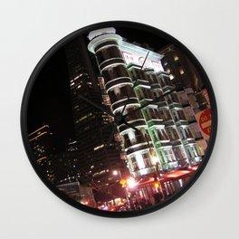 Sentinel Building at Night Wall Clock