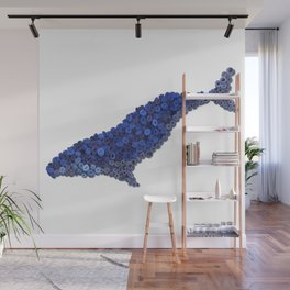 HUMPBACK WHALE- Hand-Rolled Paper Art Wall Mural