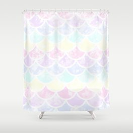 pastel mermaid Shower Curtain