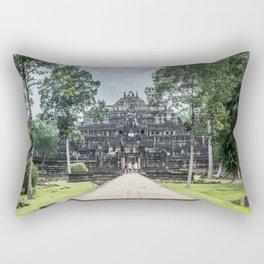 Tourists at Baphuon Temple at Angkor Thom I, Siem Reap, Cambodia Rectangular Pillow