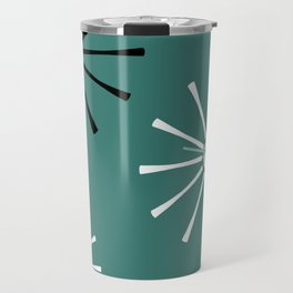 Fifties Kitchen Pattern Emerald Travel Mug