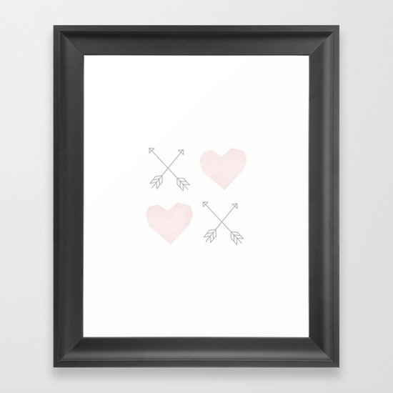 X (Heart) X (Heart) Framed Art Print