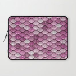 Light Pink Glitter Mermaid Sparkling Scales - Mermaidscales Laptop Sleeve