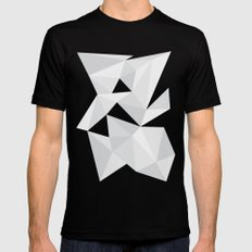 White Deconstruction Black MEDIUM Mens Fitted Tee