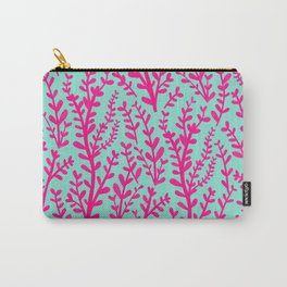 Blue and Purple Pink Floral Gouache Pattern Carry-All Pouch