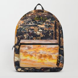 Majestic sunset at Strasbourg Cathedral Backpack