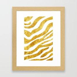 Golden Zebra Framed Art Print