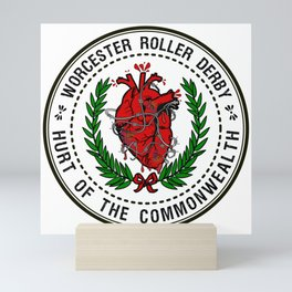 Worcester Roller Derby's Hurt of The Commonwealth Mini Art Print