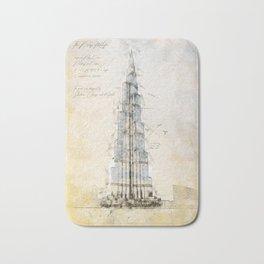 Burj Khalifa, Dubai Bath Mat